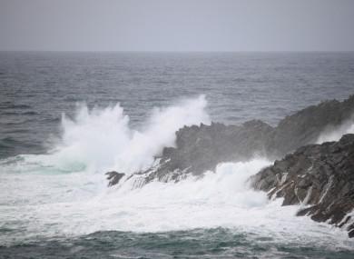 File Photo: Stormy seas in Cork