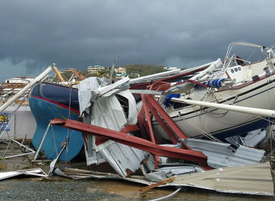 Ships destroyed on St Thomas