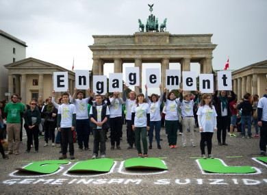 Mental health activists in Berlin, Germany in 2014.