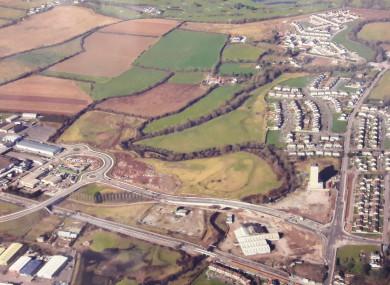 Aerial photo of Water-Rock in Midleton.