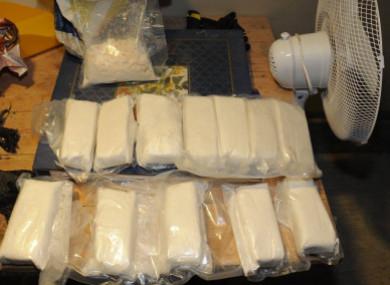 The cocaine seized.