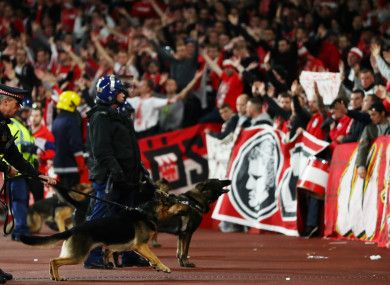 Cologne have been punished for crowd disturbances, setting off fireworks and throwing objects.