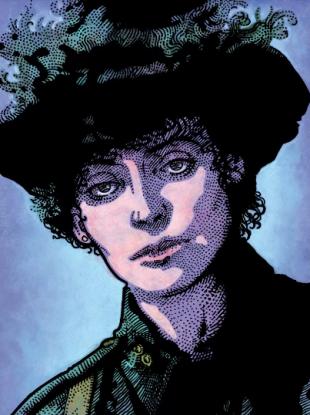 Artwork of Countess Markievicz by Jim Fitzpatrick.
