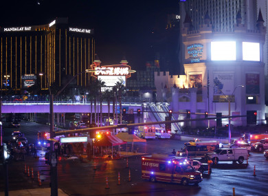Scene after the shooting, with emergency services rushing to help the injured