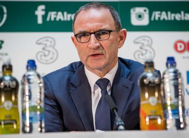 Ireland boss O'Neill.