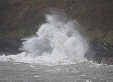 Hurricane Ophelia in Kinsale.