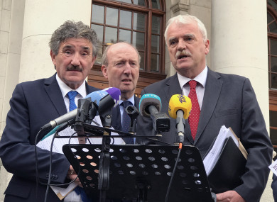 Independent Alliance members John Halligan, Shane Ross and Finian McGrath