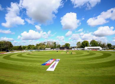 A general view of Malahide Cricket Club.