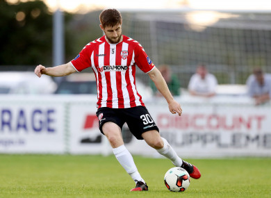 Barry joined Derry City in 2014.