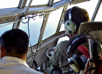 Members of the Argentine Air Force search for the missing submarine in the South Atlantic near Argentina's coast.