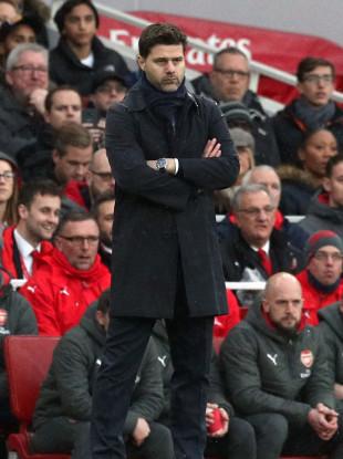 Tottenham Hotspur manager Mauricio Pochettino during the Premier League match at the Emirates Stadium.