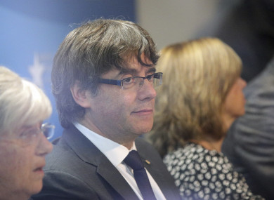 Sacked Catalan leader Carles Puigdemont has fled to Brussels.