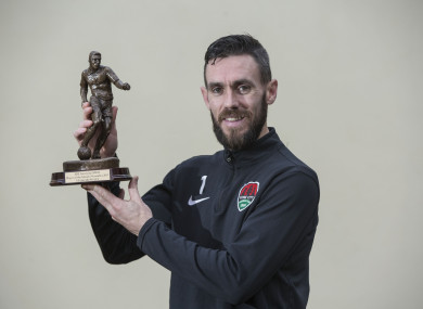 McNulty with his trophy.