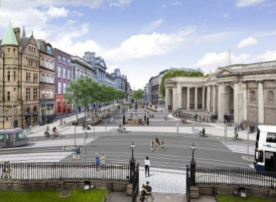 How College Green could look if it were pedestrianised.
