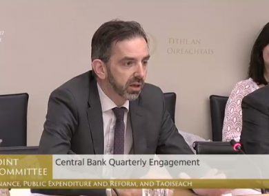 Ed Sibley appeared before the Oireachtas Finance Committee last month to discuss the action being taken by the Central Bank in relation to the scandal.