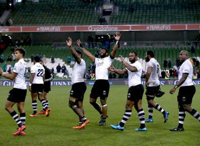 Fiji pushed Ireland all the way at the Aviva.