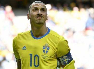 Former Sweden captain Zlatan Ibrahimovic.