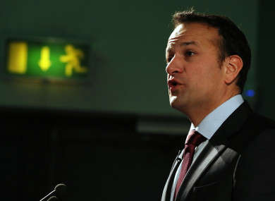 Leo Varadkar at the launch of a national conversation on the Future of Europe at the Science Gallery in Dublin earlier this week.
