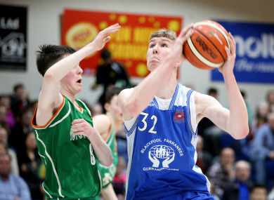 The 18-year-old (right) played for Neptune BC in Cork.