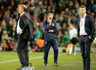 O'Neill in the closing stages of last night's game.