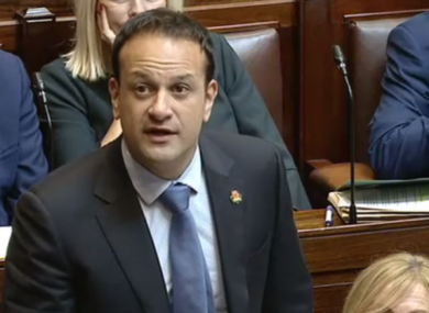 Taoiseach Leo Varadkar in the Dáil yesterday.