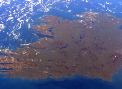 Ireland as photographed from ISS.