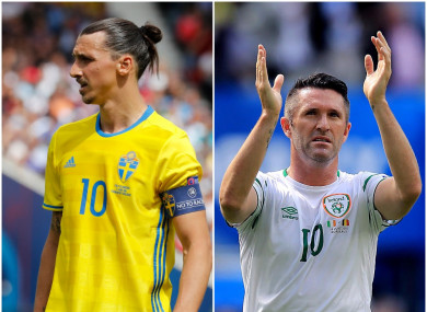Ibrahimovic and Robbie Keane are their country's leading scorers with 62 and 68 goals respectively.