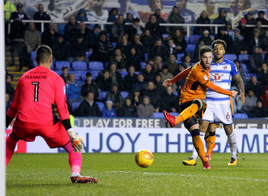 Wolves Matt Doherty scores his side's second goal of the game.
