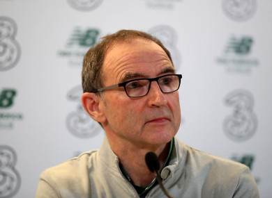 Martin O'Neill suggested he would consider his future as Ireland boss after the 5-1 loss against Denmark.
