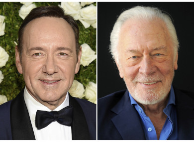 Plummer (R) was reportedly director Ridley Scott's first choice for the role.