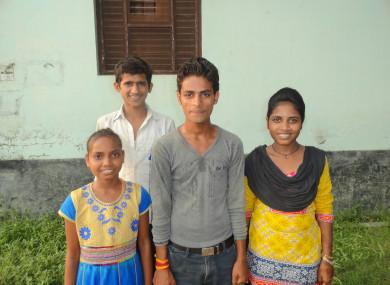 Muskan, Mangal, Chinta and Rajan, all of whom live in Bara