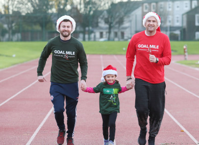 Dublin footballer Jack McCaffrey and Leinster and Ireland number eight Jamie Heaslip launched this year's GOAL Mile.