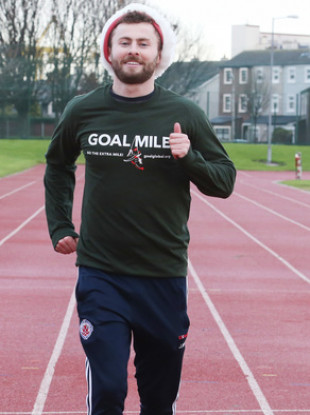 Dublin footballer Jack McCaffrey at the launch of the 2017 GOAL Mile.