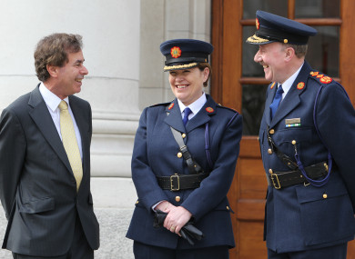 Justice Minister Alan Shatter with former Garda Commissioners Noirin O'Sullivan and Martin Callinan (March, 2011).