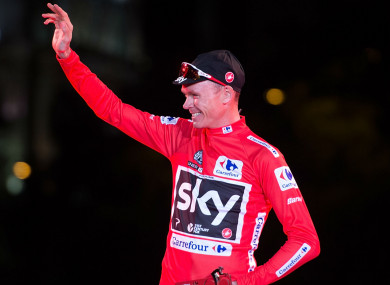 Chris Froome following his Vuelta success.