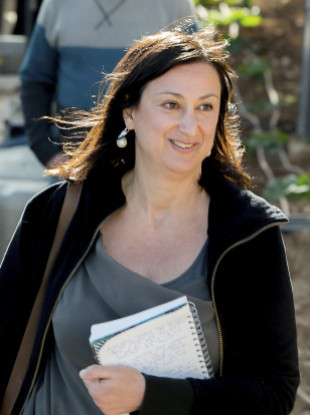 Daphne Caruana Galizia was killed in a car bomb in October