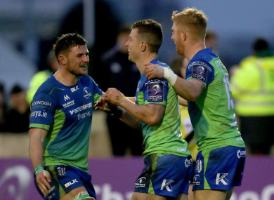 Matt Healy celebrates with Eoghan Masterson and Darragh Leader.