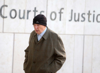 Retired surgeon Michael Shine arriving at the Central Criminal Courts in Dublin this morning.