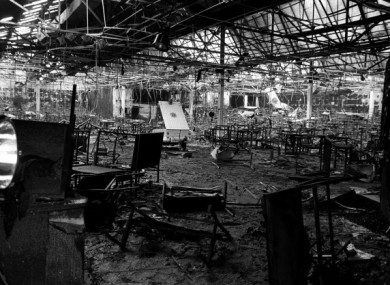 The remains of the Stardust nightclub in the aftermath of the fire