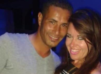 Laura Plummer with her boyfriend Omar Caboo.