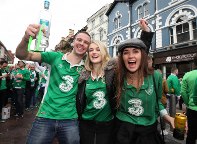 Young Irish fans in Cardiff in October of this year.