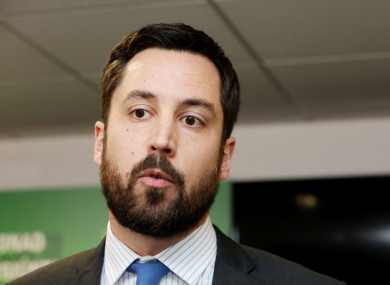 Eoghan Murphy pictures today atfter a meeting of the National Emergency Coordination Group (NECG)