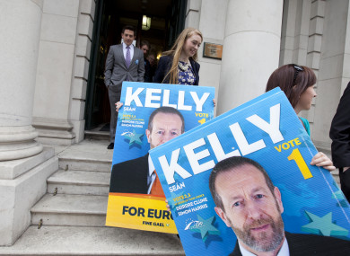 Sean Kelly supporters ahead of the EU Parliament election in 2014.
