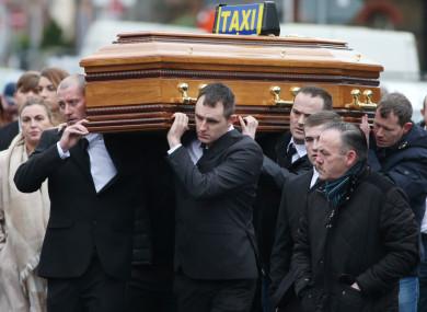 Derek Coakley Hutch (front right carrying coffin)
