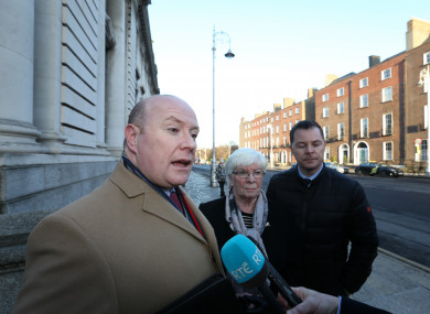 Austin, Sheila and Oliver Stack after a meeting with then Taoiseach Enda Kenny last year.