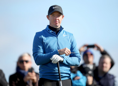 McIlroy pictured at the Alfred Dunhill Links Championship at Kingbarns in October.