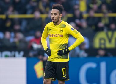 Dortmund's Pierre-Emerick Aubameyang (file pic).