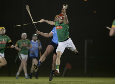 Meath's James Toher battling with Dublin's Darren Kelly.