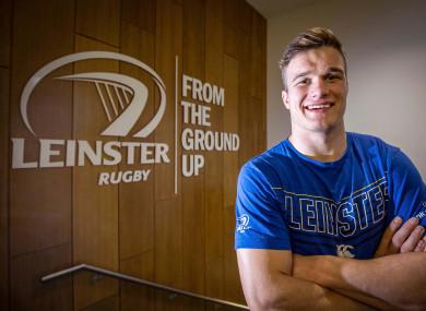 Van der Flier pictured at Leinster HQ earlier in the week.