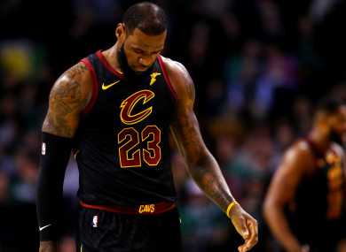 Frustrated: Cleveland Cavaliers star LeBron James.